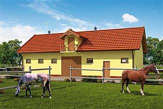 Projekt stajni S41 Stajnia dla koni - 4 boksy