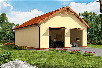Projekt garażu G243 garaż dwustanowiskowy