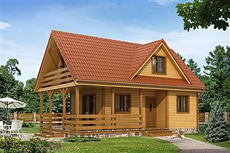 Projekt domu letniskowego Poziomka dr-S