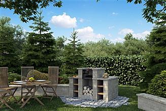Projekt grilla / wędzarni Grill ogrodowy GR-01