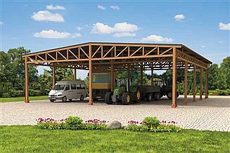 Projekt wiaty garażowej G259 Wiata garażowa