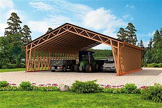 Projekt wiaty garażowej G263 Wiata garażowa
