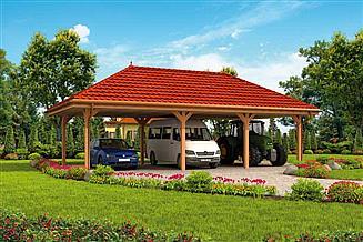 Projekt wiaty garażowej G265 Wiata garażowa