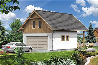 Projekt garażu WB-3879