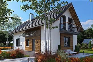 Projekt domu Longinus Sto - murowana – beton komórkowy