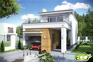 Projekt domu Long z garażem 1-st. [A]