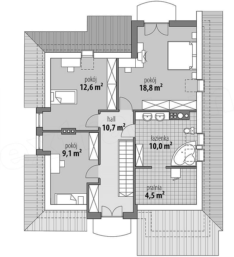 Projekt Domu Manuela 1467 M2 Koszt Budowy 229 Tys Zł Extradom
