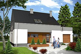 Projekt domu Oleg II z garażem 1-st. [A]