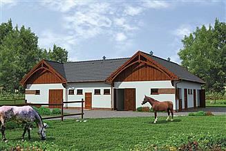 Projekt stajni S30 Stajnia dla koni - 8 boksów