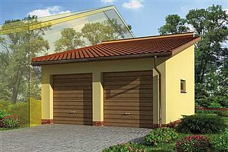 Projekt garażu GP4 garaż dostawiany dwustanowiskowy