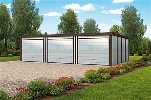 Projekt Domu Gb26 Garaż Blaszany Dwustanowiskowy Z Pomieszczeniem
