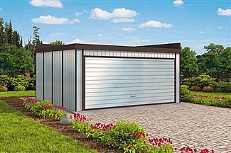 Projekt Domu Gb7 Garaż Blaszany Dwustanowiskowy Z Pomieszczeniem