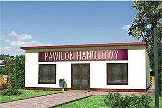 Projekt sklepu Pawilon handlowy 11 - szkielet stalowy
