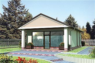 Projekt sklepu Pawilon handlowy 12 - murowana – beton komórkowy