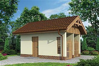 Projekt budynku gospodarczego G180 budynek gospodarczy