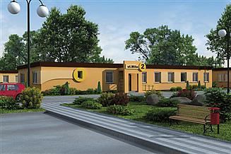 Projekt domu opieki BSC1 budynek socjalny
