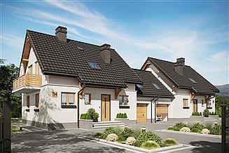 Projekt domu Smyk-2 Duo - murowana – silikaty