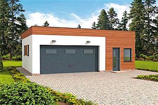 Projekt garażu G296 garaż dwustanowiskowy z pomieszczeniem gospodarczym