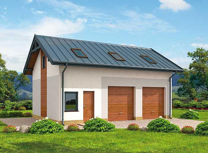 Projekt Domu G295 Garaż Dwustanowiskowy Z Pomieszczeniem