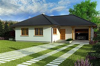 Projekt domu Domek Sosnowy+G (008 MR)