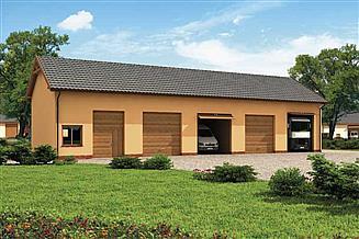 Projekt garażu G224 garaż pięciostanowiskowy