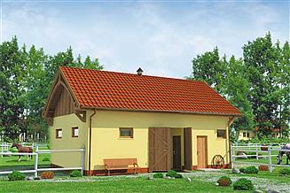 Projekt budynku gospodarczego BGS1 Budynek gospodarczy