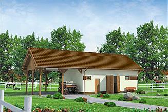 Projekt budynku gospodarczego BGS3 budynek gospodarczy