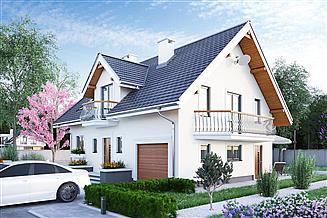 Projekt domu Zofia Mini - murowana – beton komórkowy