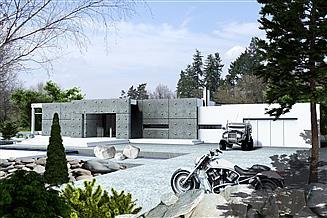 Projekt domu Alfa z garażem 2-st. [A]