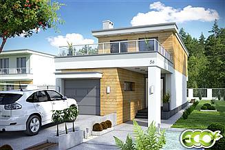 Projekt domu Long II z garażem 1-st. [A]