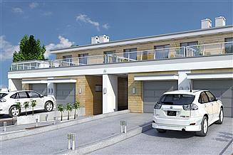 Projekt domu Long II z garażem 1-st. szeregówka [A-SZ]