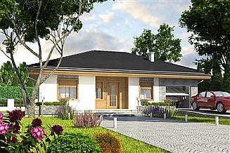 Projekt domu Dzierzba z garażem 1-st. [A]