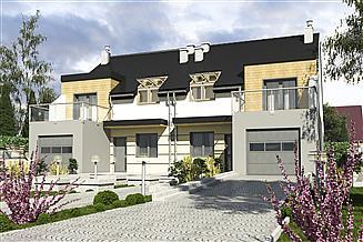 Projekt domu Gwarek II z garażem 1-st. bliźniak [A-BL2]