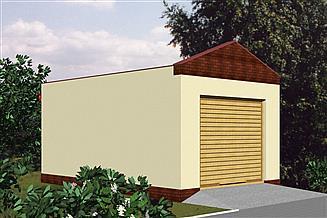 Projekt garażu Garaż G08