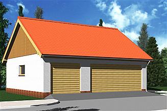 Projekt garażu Garaż G13