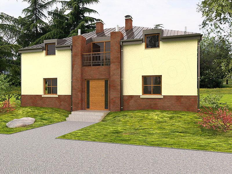 Quad Z Dachem >> Projekt domu Quad 165 m2 - koszt budowy - EXTRADOM