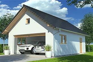 Projekt garażu APG-4 B - budynek gospodarczy