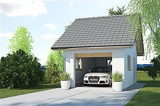 Projekt garażu APG-5 A - budynek gospodarczy