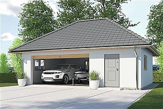 Projekt garażu APG-7 A - budynek gospodarczy