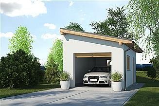 Projekt garażu APG-1 A - budynek gospodarczy