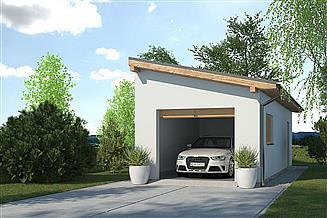 Projekt garażu APG-1 B - budynek gospodarczy