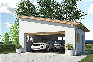 Projekt garażu APG-2 A - budynek gospodarczy