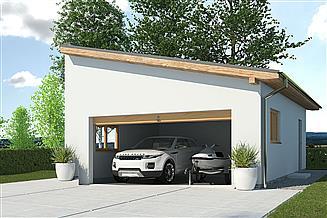 Projekt garażu APG-2 C - budynek gospodarczy