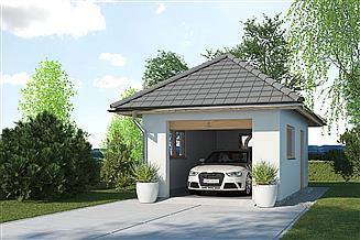Projekt budynku gospodarczego APG 3A budynek gospodarczy