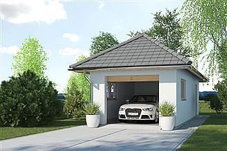 Projekt garażu APG-3 B - budynek gospodarczy