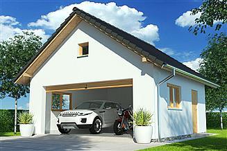 Projekt garażu APG-4 A - budynek gospodarczy
