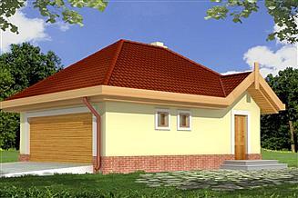 Projekt garażu B3 - budynek gospodarczy