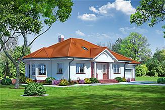 Projekt domu Zadębie średnie z garażem