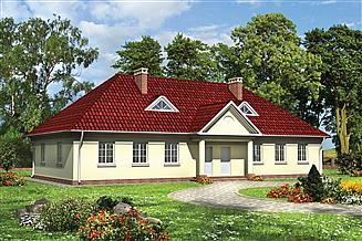 Projekt domu Telimena - murowana – beton komórkowy