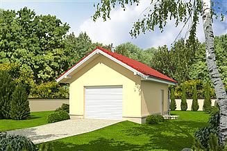 Projekt garażu Garaż G17